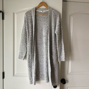 RD style long open cardigan